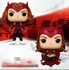 Funko Pop Marvel, Marvel Dc, Funk Pop, Pop Characters, Pop Collection, Wanda And Vision, Pop Figures, The Thing Is, Scarlet Witch