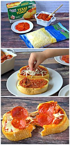 Quick and Easy Texas Toast Pizza Recipe for kids! - Yummy dinner or lunch idea.