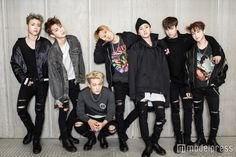 iKON(左から)JU-NE、YUNHYEONG、DONGHYUK、BOBBY、B.I、CHANWOO、JINHWAN (C)モデルプレス