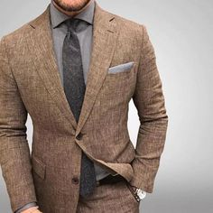Men style tips, suit fashion, fashion outfits, fashion advice, boy fashion Costume En Lin, Mode Costume, Mens Fashion Blazer, Suit Fashion, Fashion Fashion, Fashion Ideas, Fashion Advice, Daily Fashion, Blazer En Tweed