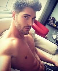 Good looking man selfie