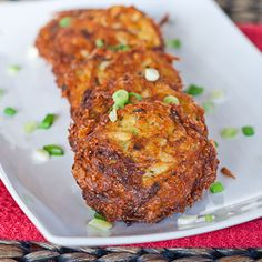 Potato and Zucchini Fritters - so good, they will be gone before you're done frying them all.