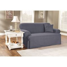 sure fit stretch stripe 2piece tcushion loveseat slipcover sand brown cushions shopping and furniture