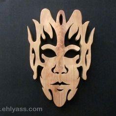 Sculpture masque elfique en chantournage