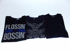 Lot Of Mens Short Sleeve T Shirts Large Under Armour UA Nike Navy Blue Black  #SASUSA