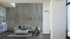 Architects Paper Fototapete Wellblech (XXL) 470110; simuliert auf der Wand