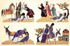 """The Good Samaritan"" by Alice and Martin Provensen #illustration #Bible #Bibleart #Jesus #parable #goodsamaritan #newtestament"