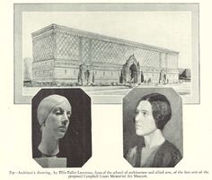 Artist rendition of the proposed new art building on campus 1927.  From the 1928 Oregana (University of Oregon yearbook).  www.CampusAttic.com