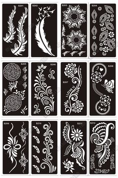 Aliexpress.com : Buy 50 pcs Tattoo Stencil For Hand Finger Painting,Mehndi Indian Temporary Glitter Airbrush Henna Tattoo Stencil Templates Wholesale from Reliable tattooed lady body art suppliers on Mehndi Co., Ltd. - 9Th Club Lace Painting, Dot Art Painting, Painting Tattoo, Finger Painting, Henna Tattoo Stencils, Henna Tattoo Hand, Mandala Art, Mehndi, Zentangle