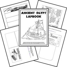 Here is a FREE ancient Egypt Unit Study and lapbook. This lapbook includes themes such as the Nile River, pharaohs, Egyptian homes, gods and goddesses, pyramids, mummies, King Tut, and Amenhoptep.