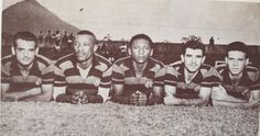 "Joel, Rubens, Índio, Evaristo e Zagallo - 1954 - Ataque ""Rolo Compressor"" do Flamengo."