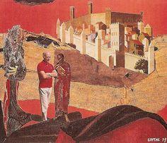 Μουσικήν ποίει και εργάζου...: Κολάζ και ζωγραφιές του Ο.Ελύτη
