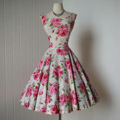 vintage 1950s dress ...designer JACKIE MORGAN by traven7 on Etsy