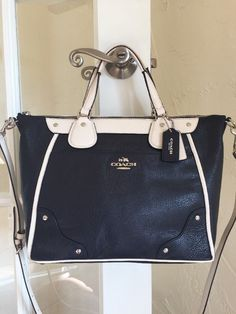 Coach Minetta Exotic Trim Grey Birch Chalk Crossgrain Leather ...