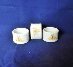 Set of three Vintage ceramic napkin rings by MyHighStreetBoutique