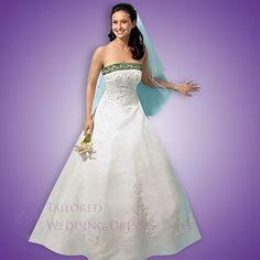 A Linie Princess Stil Armellos Applique Satin Brautkleider Mit