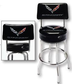 C7 Corvette Backrest Counter Stool