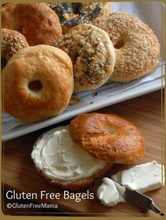 Gluten Free Bagels Oh My!  Delicious and great texture.  Found in Mamas Cookbook, In the Kitchen with Gluten Free Mama http://store.glutenfreemama.com/in-the-kitchen-with-gluten-free-mama-cookbook/