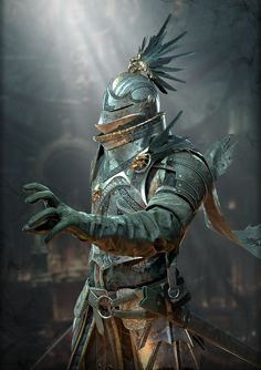 This is my fan art of Dark Souls the Knight of the Raven Order is done ! Dark Fantasy Art, Fantasy Rpg, Medieval Fantasy, Fantasy Artwork, Medieval Knight, Fantasy Warrior, Fantasy Character Design, Character Art, Fantasy Inspiration