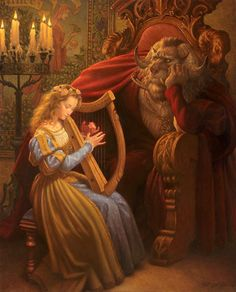 Beauty & The Beast (Illustrations Of Classic Fairy Tales From The Brothers Grimm) Book Illustration, Illustrations, People Illustration, Classic Fairy Tales, Fairytale Art, Thomas Kinkade, Disney Art, Belle Photo, Faeries