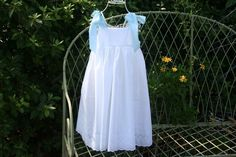 Girls dress with  Satin Bows. Fully lined dress....via Etsy.