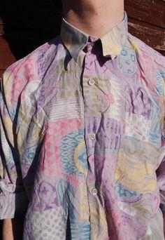 Vintage 80's Patterned Shirt L | PrinceAlbert | ASOS Marketplace