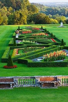 Parterre in Evening Flowers Garden Love