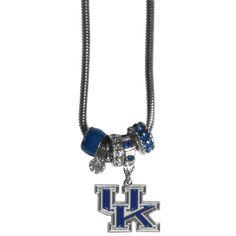 Kentucky Wildcats Necklace - Euro Bead (backorder)