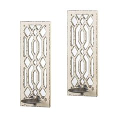 DECO MIRROR WALL SCONCE SET