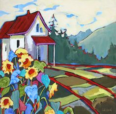 """""""Simple Living"""" Painting by Carolee Clark"""