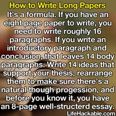 How to write a paper. this is so simple. and probably not useful for me anymore with only a couple months of school left...