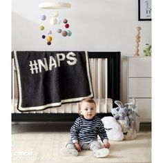 "Free Intermediate Crochet Baby Blanket Pattern: ""Hashtag NAPS"" by Repeat Crafter Me"