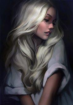 Mor [Golden hair by Tsvetka on DeviantArt] Reminds me of aelin from throne of glass A Court Of Mist And Fury, Throne Of Glass Series, Golden Hair, Digital Art Girl, Sarah J Maas, Fantasy Girl, Anime Fantasy, Amazing Art, Character Art