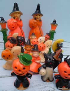 vintage Halloween candles.  I own two of the witches and a small pumpkin man in a hat.