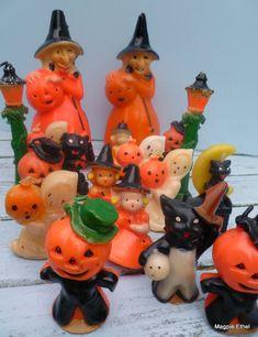 vintage Halloween candles