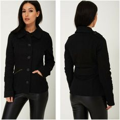 Fitted Black Woven Utility Jacket Cargo Combat Army Coat Military Sizes 4 6 8 10 #Unbranded #Military #Casual 1920 Flapper Dresses, Army Coat, Utility Jacket, Evening Gowns, Winter Fashion, Military, Plus Size, Womens Fashion, Casual