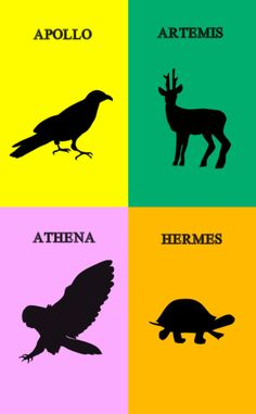 Apollo, Artemis, Athena, and Hermes