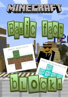 Minecraft themed basic fact cube nets AGES 5 to 10  (NUMER Minecraft Classroom, Minecraft School, Minecraft Blocks, Math Classroom, Numeracy Activities, Learning Apps, Library Programs, Free Math, School Themes