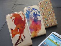 Artist Designed Leather style flip cases! Available for the Samsung Galaxy s3, iPhone 4/4s and soon the iPhone 5!