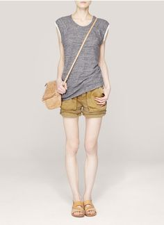 See By Chloé - Layered cargo shorts | Neutral and Brown Shorts Pants | Womenswear | Lane Crawford - Shop Designer Brands Online