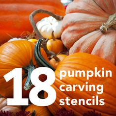 Carve pumpkins like a pro with these easy  stencils!