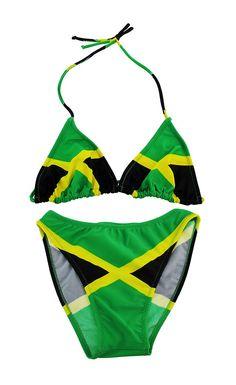 267646e970 Jamaican Flag String Bikini Jamaica Swimsuit U.S. Junior`s Sizes (3/4)