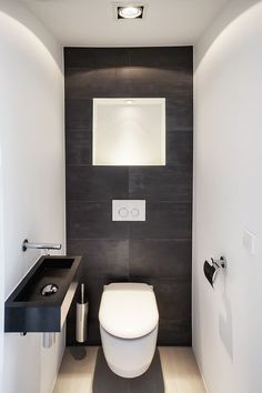 There is actually a Small Bathroom Design Revolution as well as You'll Love These Rule-breaking Trends Nice small basement bathroom design ideas only in popi home design Small Downstairs Toilet, Small Full Bathroom, Small Basement Bathroom, Small Toilet Room, Guest Toilet, Office Bathroom, Bathroom Toilets, Bathroom Layout, Bathroom Interior Design