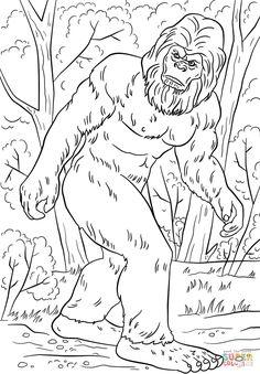 Bigfoot Super Coloring Coloring Pages Bigfoot Art Camping Coloring Pages