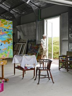 Artist Colin Pennock in his studio, nestled in the Noosa Hinterland in Queensland.  Photo – Toby Scott for The Design Files.