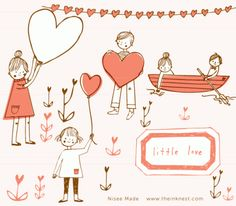 CLIP ART - Little Love - for commercial and personal use