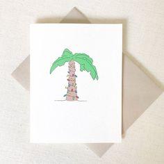 Palm Tree Christmas Card Pack - Seasons Greetings from California Christmas, Hanukkah Card, Florida Christmas Card, Christmas Tree Card Christmas Palm Tree, Christmas Tree Cards, Merry Christmas To You, Holiday Cards, Christmas Christmas, Christmas Lights, Funny Love Cards, Funny Greeting Cards, Greeting Cards Handmade