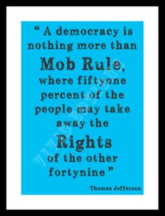 """Political Quote """"Mob Rule..."""", Thomas Jefferson -- Typography Word Art Print Word -- by VIVIDEDITIONS"""