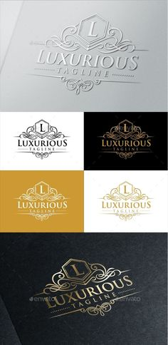 Luxurious royal logo template suitable for businesses and product names, luxury industry like hotel, wedding and real estate. Easy to edit, change size, color and text. Font link provided inside the Help file.