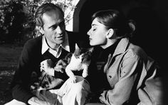 mel ferrer + audrey hepburn + the 5000th almost famous cat ps. happy national cat day!
